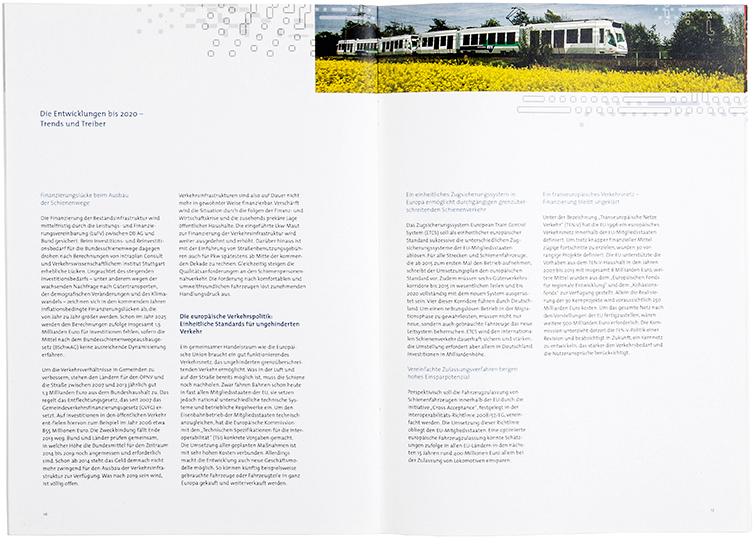 Broschüre Eco Rail Innovation (ERI) - Booth Design Unit, Grafikdesign aus Berlin