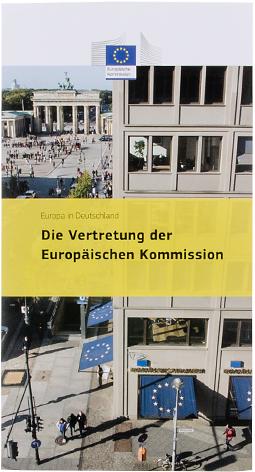 Flyer der Europäischen Kommission, Vertretung in Deutschland - Booth Design Unit, Grafikdesign aus Berlin