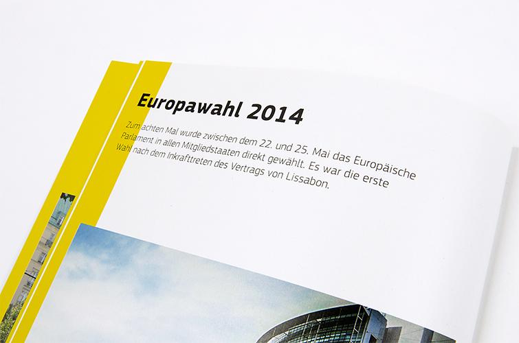 Broschüre der Europäischen Kommission, Vertretung in Deutschland - Booth Design Unit, Grafikdesign aus Berlin