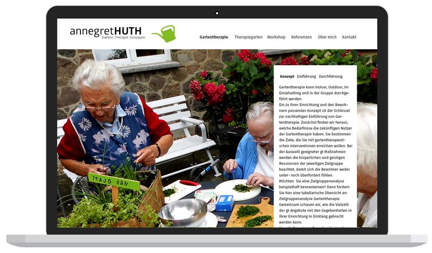 Grafikdesign-Berlin-Booth-Design-Unit-Website für Gartentherapeutin Annegret Huth - von Booth Design Unit, Webdesign aus Berlin