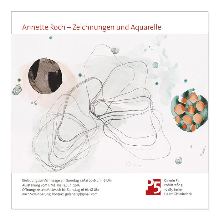 Grafikdesign in Berlin Booth Design Unit Michaela Booth Erscheinungsbild Galerie Roch
