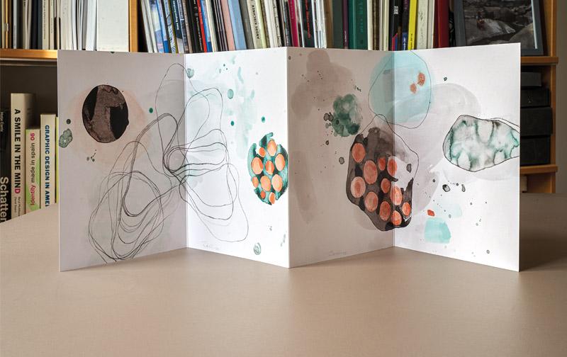 booth design unit, michaela booth, corporate design, kunstbuch, Leporello, flyer, Erscheinungsbild, logo