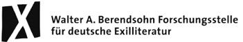 Grafikdesign-Berlin-Booth-Design-Unit-Logo Walter A. Berendsohn Forschungsstelle für deutsche Exilliteratur - Booth Design Unit, Grafikdesign und Logogestaltung aus Berlin
